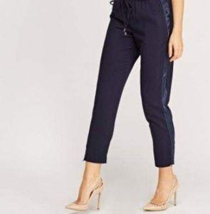 Pants - Navy Sateen Trim Joggers/Trousers L (12)